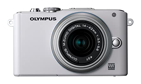 Olympus PEN E-PL3 Kit Compact à objectif interchangeable 12,3 Mpix Blanc + Objectif 14-42 mm II Argent