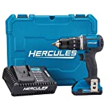 Hercules 20V Lithium Cordless 1/2 In. Compact Hammer Drill/Driver Kit (Color: Blue)