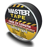 Premium Grade - Professional Commercial Gaffer Tape 2 inch X 60 Yards Black | 2X More | Largest ROLL of Gaffers Tape on Amazon! Heavy Duty Gaff | True 2