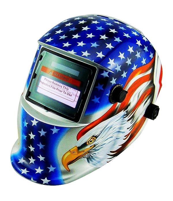 Li Battery+Solar Auto darkening welding helmet/face mask/Electric welder mask/cap for the welding machine (EF9040G, 9) (Color: 9, Tamaño: EF9040G)