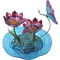 Peaktop Indoor Butterfly Fusion Glass Tabletop Water Fountain