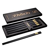 Foster (Goldage) 5-Pairs Fiberglass Dishwasher-safe Chopsticks (Golden Age - Prosperous Gold)