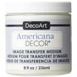 Deco Art Image Transfer Medium Paint, 8-Ounce, Clear (Color: White, Tamaño: 1 Pack)