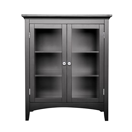 Elegant Home Fashions 7633 Madison Avenue Double Floor Cabinet Dark Espresso