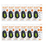 Slice 10514-CS Mini Cutter Auto-Retractable, Cuts Vinyl, Cardboard, Foam, Plastic Packaging Opener, Pack of 12 (Color: Black, Tamaño: 12 Mini Cutters - Hold Blade to Cut)