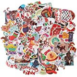 HOMIMP 135 Pcs Stickers Pack Christmas Designs - Vinyl Decals DIY Decorations or Gifts - for Laptop Skateboard Car Luggage Motorcycle Bicycle Graffiti Computer Keyboard (Color: 135 Pcs Christmas Style)