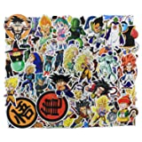 Cartoon Stickers 100 Pcs , Anime Dragon Ball Laptop Stickers Fun Vinyl Decals for Kids Water Bottles Snowboard Skateboard Car Motorcycle Aesthetic Waterproof Stickers Bomb Pack - Cartoon (Color: Cartoon)