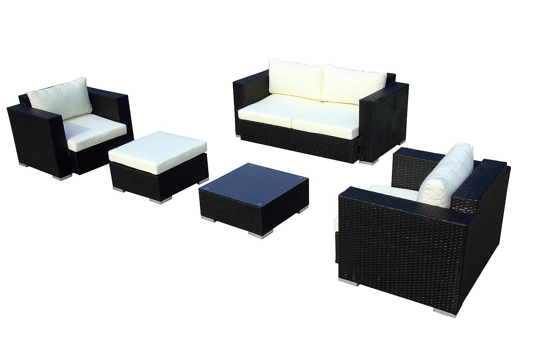 Baidani 10c00012.00001 Sitzgruppe Sun Dream, 5-teilig, schwarz bestellen