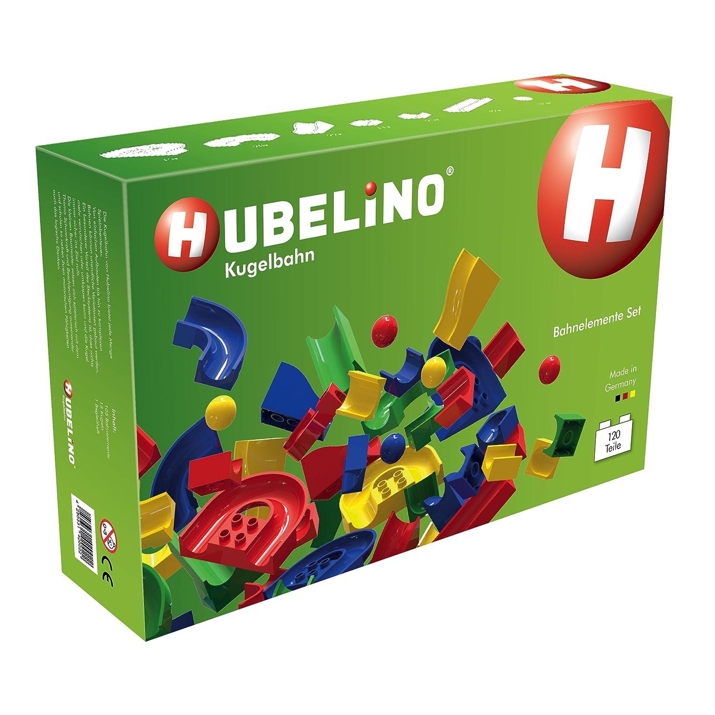 Hubelino – Kugelbahn – Großes Bahnelemente Set – 120 Teile – ab 3 Jahre (100% kompatibel mit Duplo) jetzt bestellen