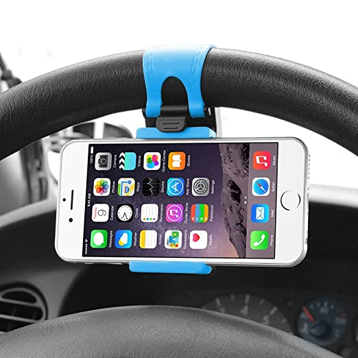 steering wheel cell phone mount