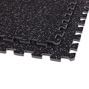 IncStores 3//4 Soft Rubber Interlocking Gym Flooring Tiles Cardio and More P90X Insanity Perfect Mats for Home Gyms