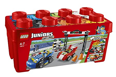 Lego Juniors - 10673 - Jeu De Construction - Grande Boîte Du Rallye Automobile