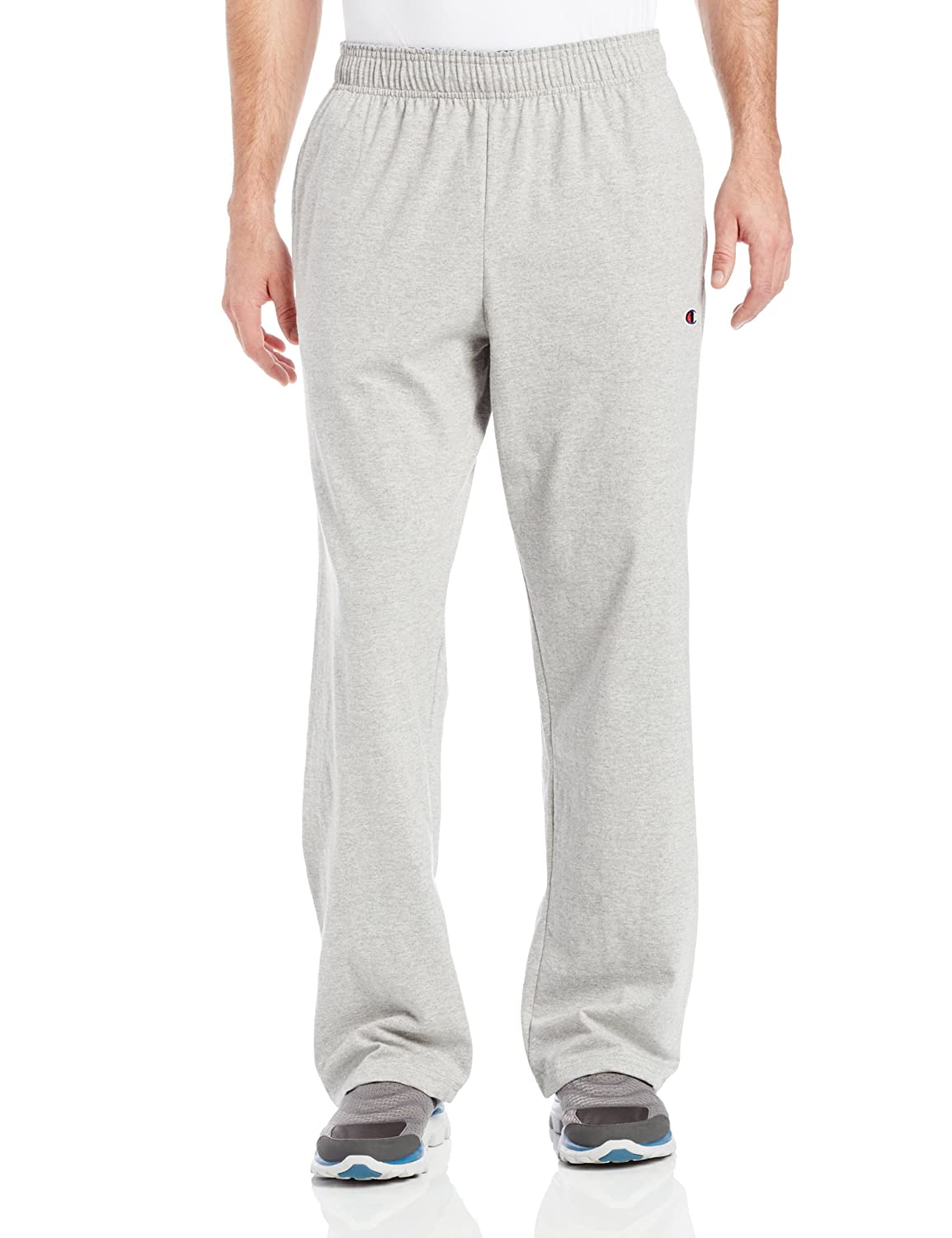 Champion Mens Open-Bottom Jersey Sweatpant