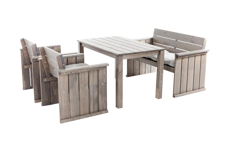 Ambientehome 90454 Gartengarnitur Essgruppe Loungegruppe grau Strandgut Europa Top-Neuheit 2015 AKTIONSPREIS bestellen