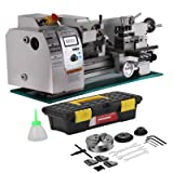 Mophorn Metal Lathe 8 x 16 Inch 750W Precision Mini Metal Lathe 2500 RPM Micro Metal Milling Bench Top Lathe Machine with Digital Display (8 x 16 Inch 750w)