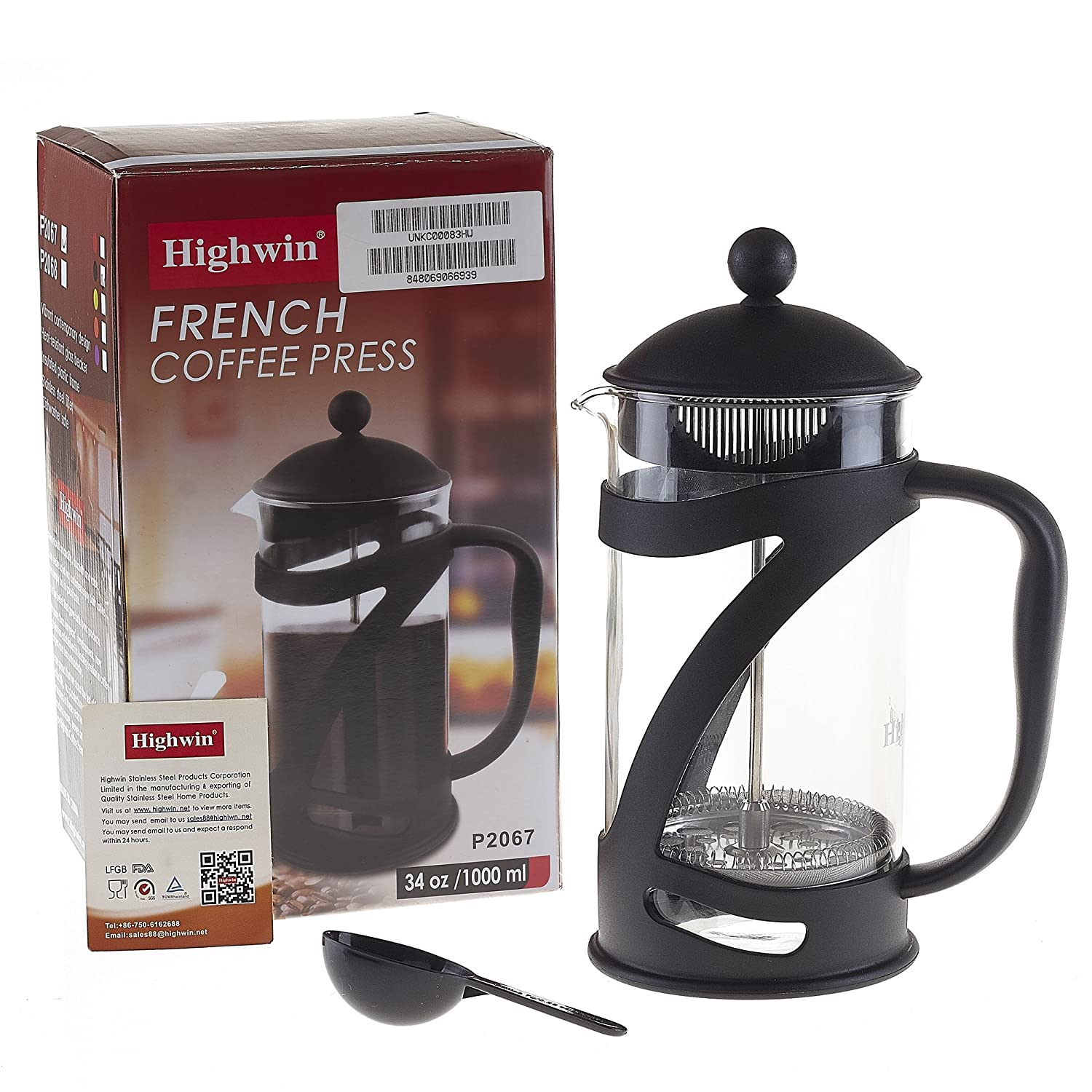 durable 8 cup 34oz coffee french press tea brewer maker stainless steel plunger ebay. Black Bedroom Furniture Sets. Home Design Ideas