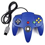 N64 Controller, iNNEXT Classic Wired N64 64-bit Gamepad Joystick for Ultra 64 Video Game Console (Blue) (Color: Blue)