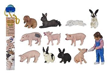 Miniatures en plastique Toobs-porcelets & lapins