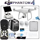 DJI Phantom 4 Quadcopter Backpack Bundle: Includes 2 Phantom 4 Batteries, Phantom 4 Backpack, 16GB MicroSD Card and more...