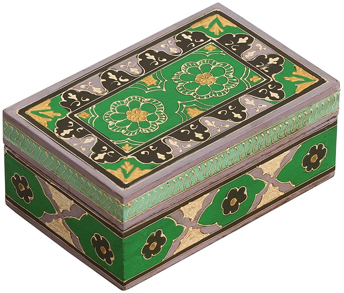 Wooden Jewelry Box – Handmade / Hand-Painted Treasure Chest / Decorative Box – Multicolor / Keepsake / Trinket / Storage Box - Gifts for Her
