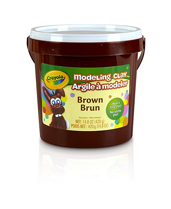 Crayola Modeling Clay, Brown, Art Tool for Kids, 14.8 Ounces, Gift (Color: Brown., Tamaño: 1-Pack)