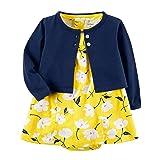 Carter's Baby Girls Dress Set, Navy/Yellow, 18M