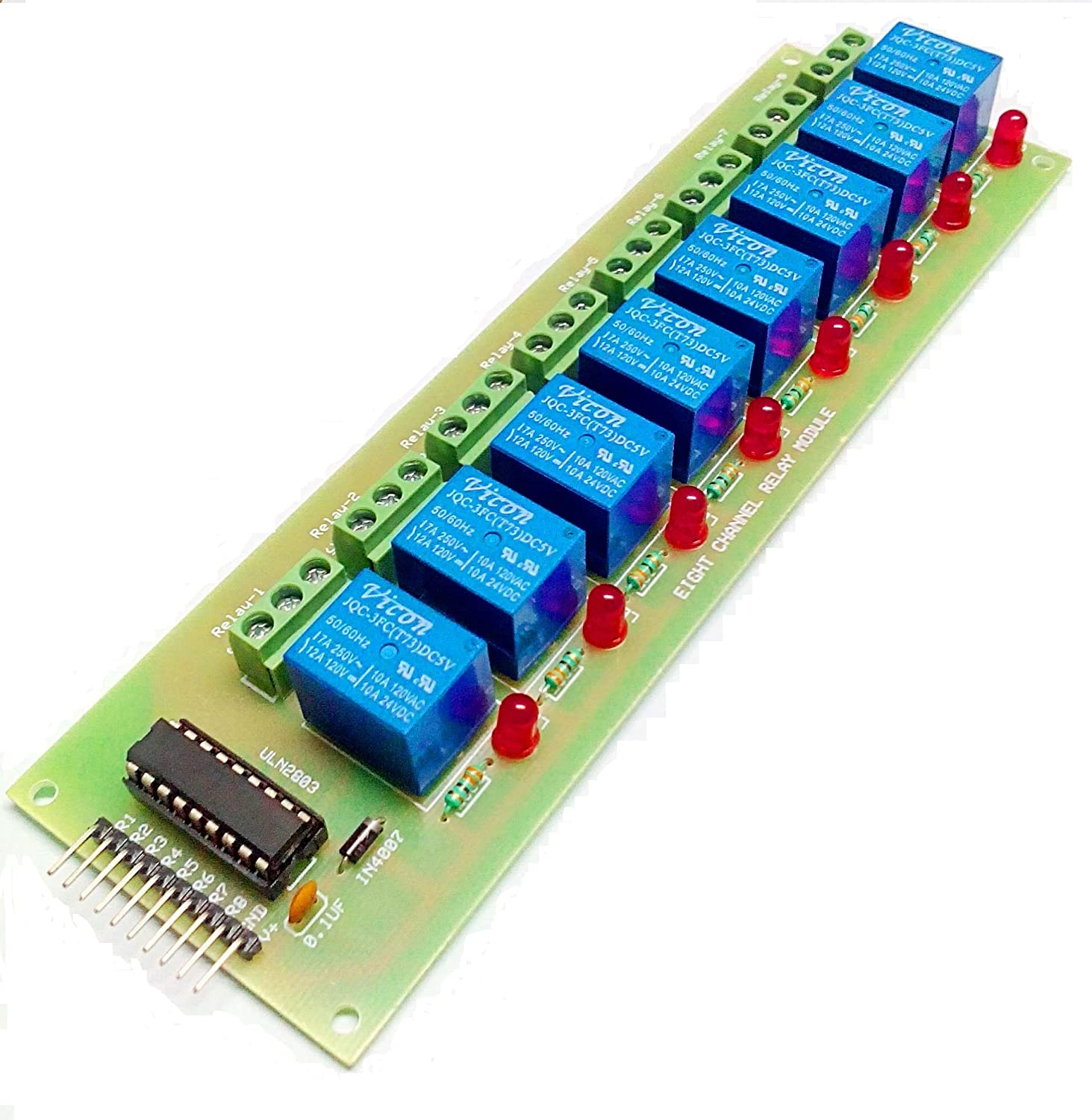 33v) For Arduino,avr,pic & 8051 To Control 8 Ac Appliances From