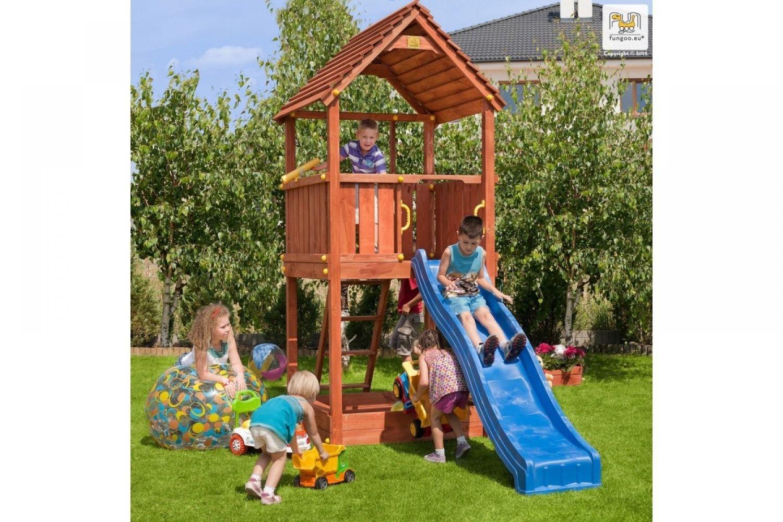 Fungoo ® Joy Spielturm mit Rutsche Farbe blaue Rutsche bestellen
