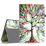 Fintie Folio Case for Microsoft Surface RT/Surface 2 10.6 inch Tablet Slim Fit with Stylus Holder (Does Not Fit Windows 8 Pro Version) - Love Tree (Color: Z-Love Tree)