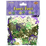 Fanci-Fetti Fleur De Lis (gold, green, purple) Party Accessory  (1 count) (1 Oz/Pkg)