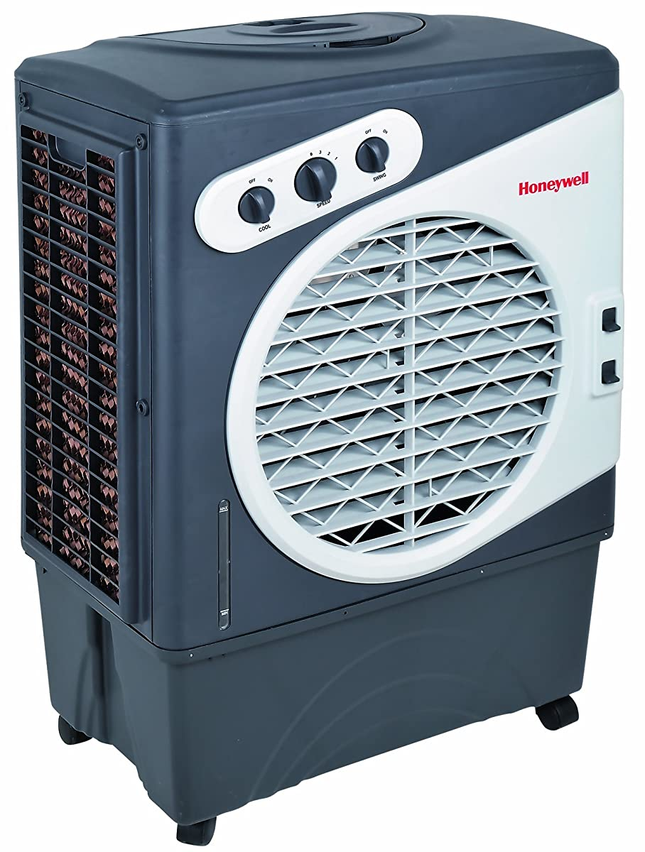 Honeywell CO60PM 125 Pt. Commercial Indoor/Outdoor Portable Evaporative Air Cooler - White/Grey