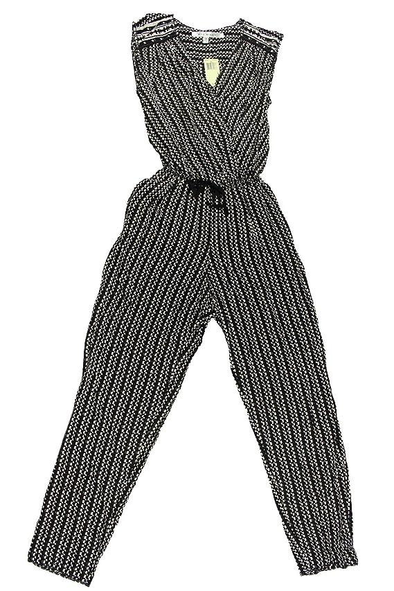 Max Studio Women's Black Ivory Peg Leg Jumpsuit