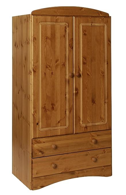 Furniture To Go Aviemore 2-Door 2-Drawer Combi Robe, 153 x 82 x 49 cm, Antique Pine