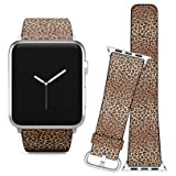 Compatible with Apple Watch (38/40 mm) // Leather Replacement Bracelet Strap Wristband + Adapters // Leopard Imitation Skin