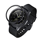 ANCOOL Compatible Samsung Galaxy Watch 42mm/Gear Sport Bezel Ring Adhesive Cover Anti Scratch Stainless Steel Protector Design for Galaxy Watch 42mm/Gear Sport -Black (Color: Q-02, Tamaño: 42mm)