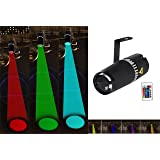 LED pinspot stage light- TOM 9W RGB 3-in-1 beam light by IR remote controller (Color: RGB, Tamaño: 160*65*50(mm))