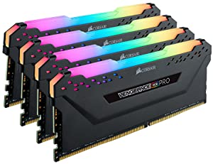 Corsair Vengeance RGB Pro 32GB (4x8GB) DDR4 4266 (PC4-34100) C19 Desktop Memory - Black (Tamaño: 32 Gb)