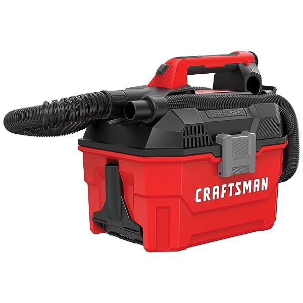 CRAFTSMAN V20 Cordless Shop Vac, 2 Gallon, Wet/Dry, Tool Only (CMCV002B)