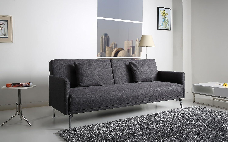 Helsinki Schlafcouch Stoff dunkelgrau Schlaffunktion Sofa bestellen