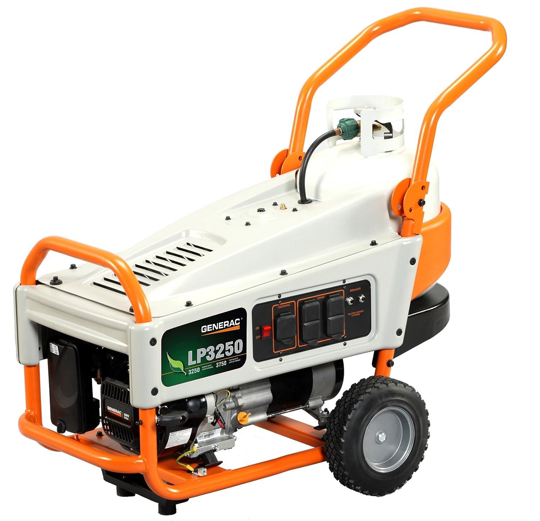 propane portable generators - generac lp3250