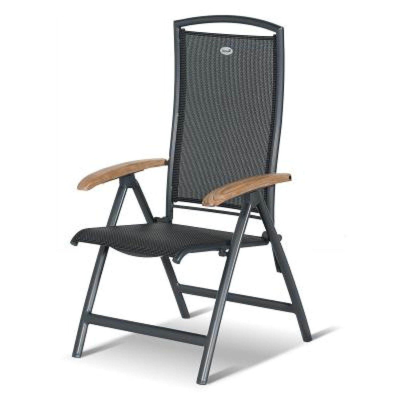 Hartman Raffaelo Recliner Sessel mit verstellbarer Rückenlehne Aluminium/Teakholz günstig