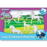 Breyer Stablemates Horse Crazy Colorful Breeds Craft Activity Paint Set (Color: Multicolor)