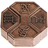 CB Metal Brain Teaser Puzzle (Level 6) (Color: Brown)