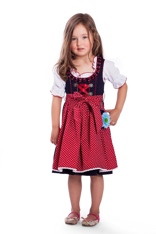 Original Steindl München-Salzburg 3tlg. Kinderdirndl rot günstig
