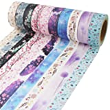 Washi Tape 33 Feet Long Each Roll DIY Japanese Masking Tape Decorative Masking Tape Scrapbooking Tape for Arts Crafts Office Party Supplies and Gift Wrapping (Color: Floral, Tamaño: Floral Patterns 1)