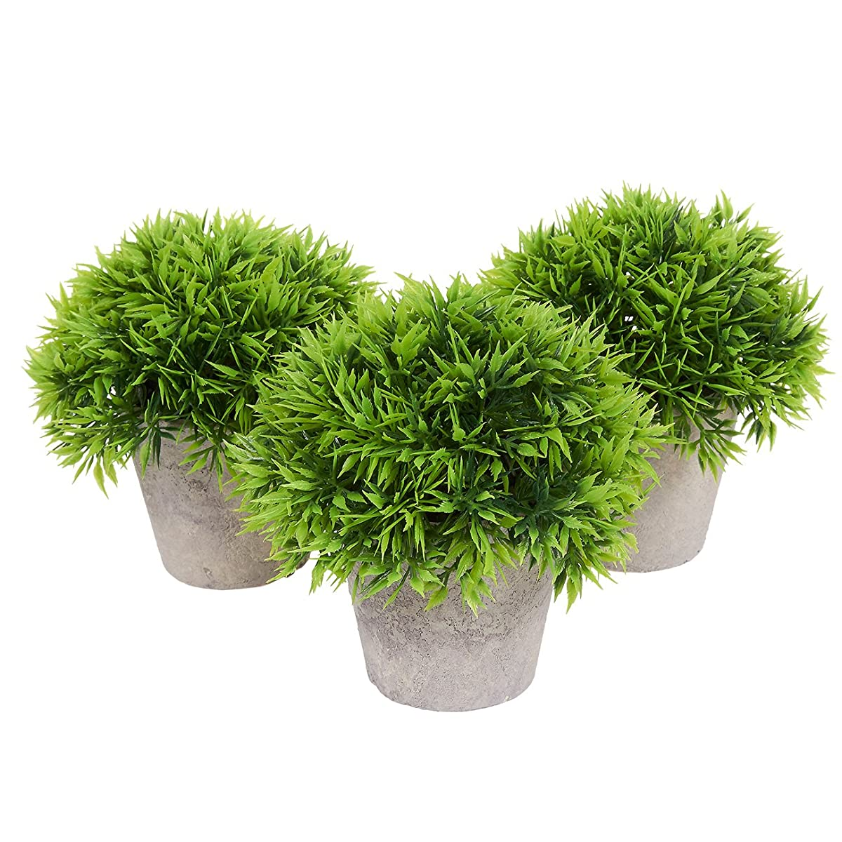 Fake Plant Decoration   Set Of 3 Potted Artificial House Plants   Fake Plant  Decor, Green Decorative Small ...