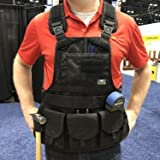 Atlas 46 JourneyMESH Chest Rig with Cargo Pockets, Black (Color: Black, Tamaño: Mesh Chest Rig With Cargo Pockets)