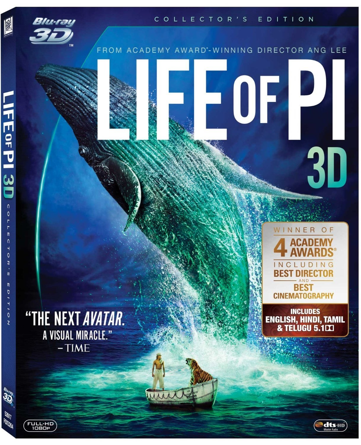 Flat 33% off: Popular 3D blu-ray movies By Amazon | Life of Pi (3D) @ Rs.995