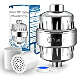 Shower Water Filter 10-Stage with 2 Replaceable Cartridges Shower Head Filter for Hard Water by Yivion