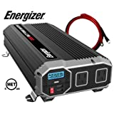 ENERGIZER 2000 Watt Power Inverter converts 12V DC from car's battery to 120 Volt AC 2x USB ports 2.1A (Tamaño: 2000W)